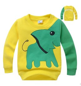 LaraModa Olifant Sweater - geel