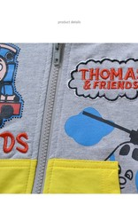 LaraModa Thomas en vrienden Jongens Sweatvest - grijs / geel