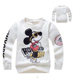 LaraModa Mickey Mouse Sweater - wit