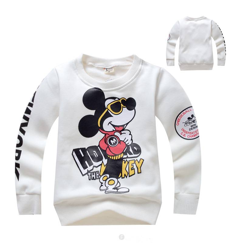 LaraModa Mickey Mouse Jongens Sweater - wit