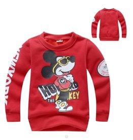 LaraModa Mickey Mouse Sweater - rood