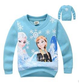 Meisjeskleding Disney Frozen Sweater - lichtblauw