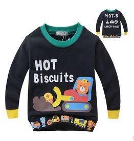 LaraModa Hot Biscuits Beertjes Sweater - zwart