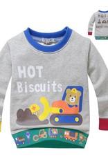 Jongenskleding Hot Biscuits Beertjes Jongens Sweater - grijs