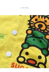 LaraModa Diertjes Jongens Sweatvest - geel