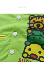 LaraModa Diertjes Jongens Sweatvest - groen