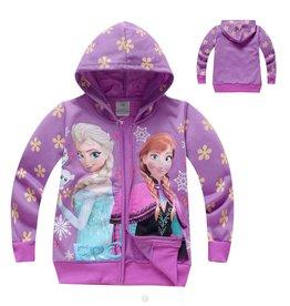 Meisjeskleding Frozen Sweatvest 2 - paars