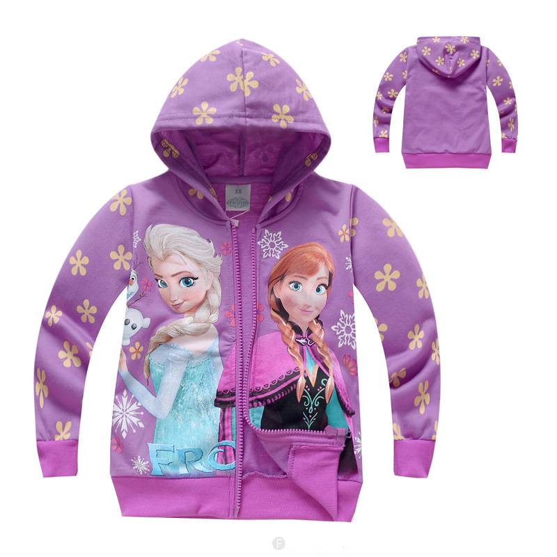 Meisjeskleding Frozen Meisjes Sweatvest 2 - paars