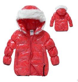 LaraModa Meisjesjas - rood
