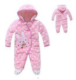 Babykleding Konijntje Boxpakje met capuchon - roze