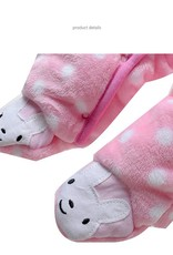 LaraModa Konijntje Meisjes Boxpakje met capuchon - roze