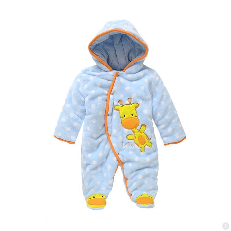 Babykleding Girafje Jongens Boxpakje met capuchon - blauw