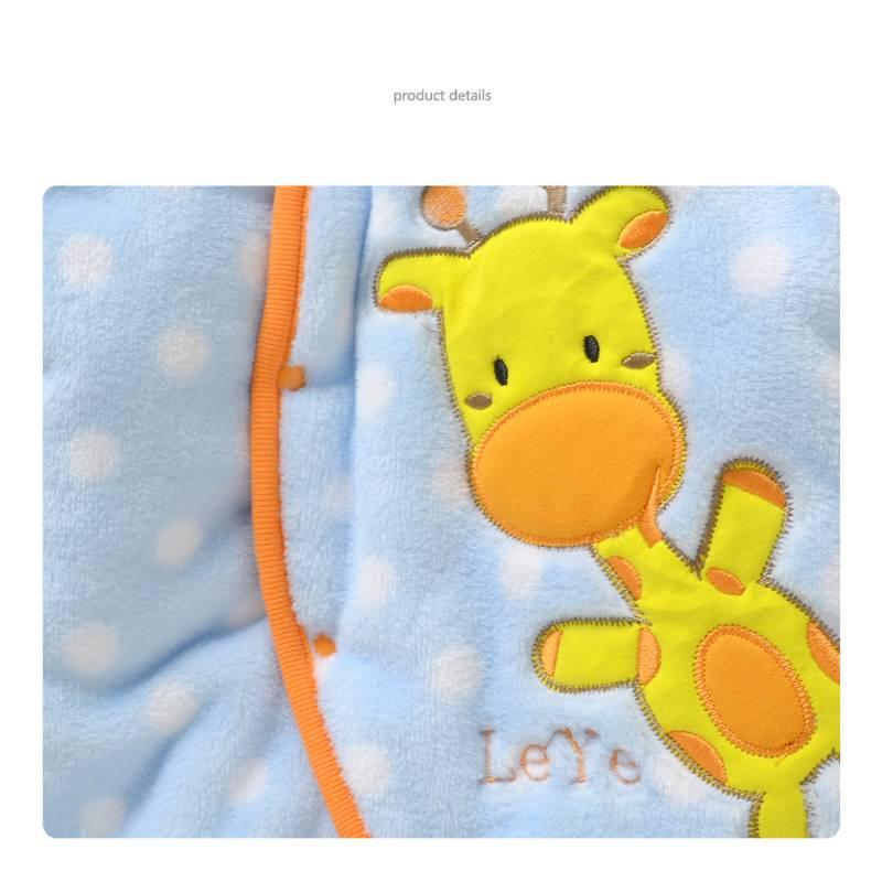 LaraModa Girafje Jongens Boxpakje met capuchon - blauw