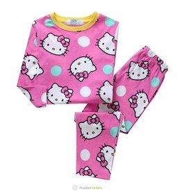 LaraModa Hello Kitty Pyjama - roze / geel