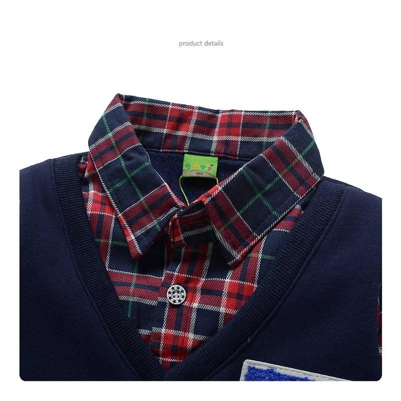 Jongenskleding Jongens Sweater Vest met lange mouwen - blauw