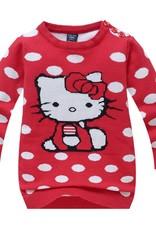 LaraModa Hello Kitty Meisjes Trui - rood
