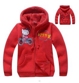 LaraModa Hello Kitty Sweatvest - rood