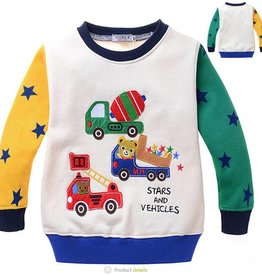 LaraModa Beertjes Stars and Vehicles Sweater