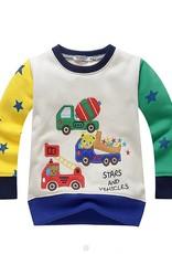 LaraModa Beertjes Stars and Vehicles Jongens Sweater