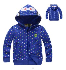 LaraModa Monster Sweatvest - blauw