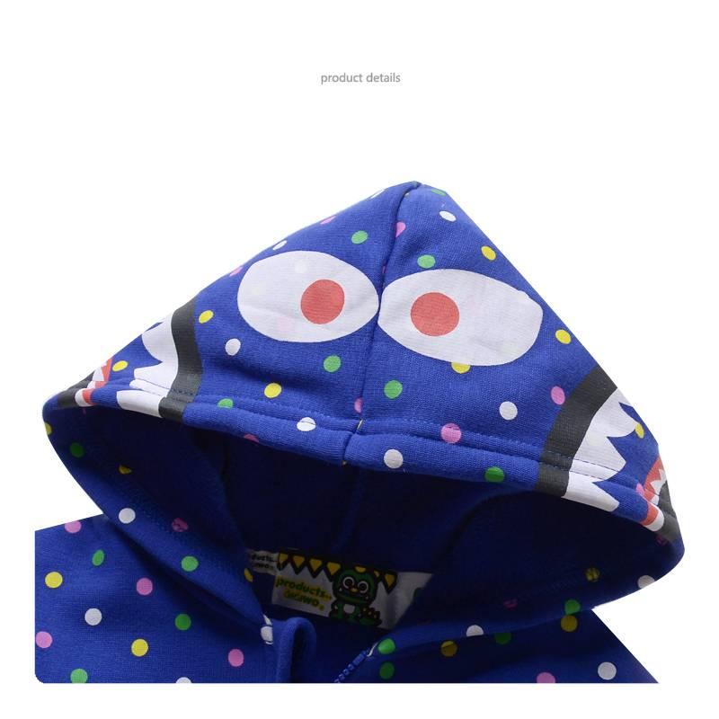 LaraModa Monster Jongens Sweatvest - blauw