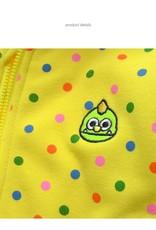 LaraModa Monster Jongens Sweatvest - geel
