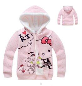 LaraModa Hello Kitty Sweatvest 2 - lichtroze