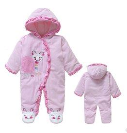 Babykleding Slakje Boxpakje met capuchon - roze