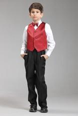 LaraModa Jongenskostuum Thomas (zonder jasje) - zwart / rood
