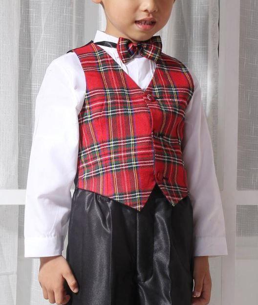 Jongenskleding Jongenskostuum Michael - zwart / rood