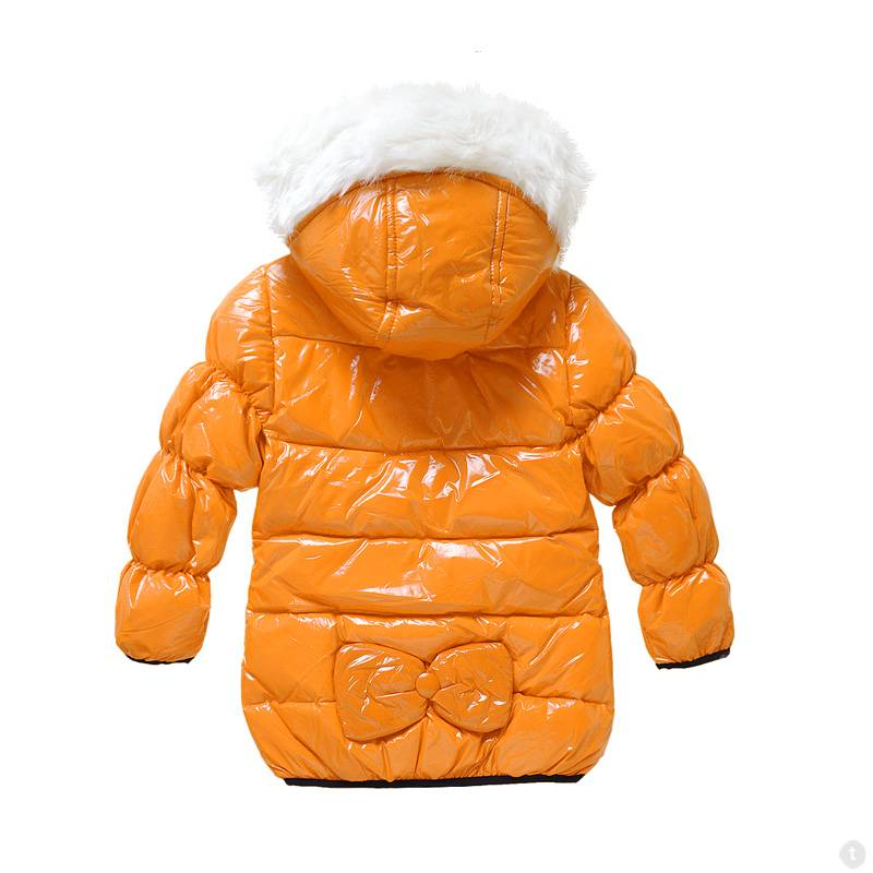 LaraModa Meisjesjas - oranje