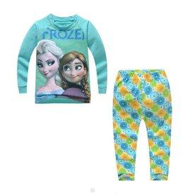 LaraModa Disney Frozen Pyjama - blauw / groen