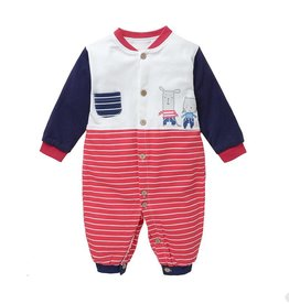 Babykleding Muisjes Boxpakje - rood / blauw