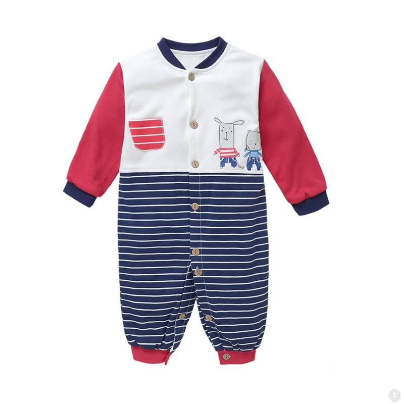Babykleding Muisjes Jongens Boxpakje - blauw / rood