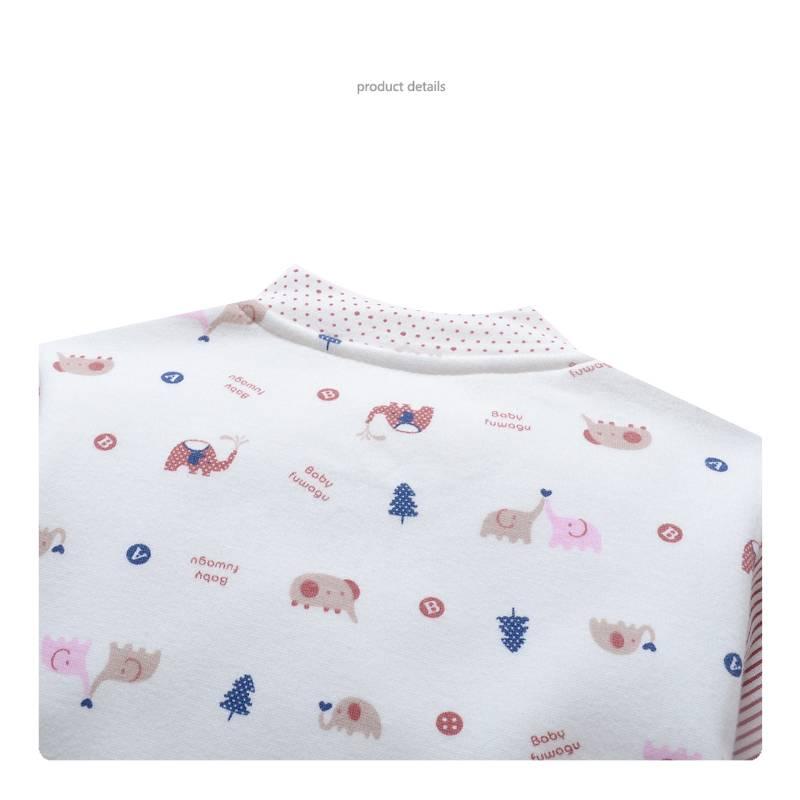 Babykleding Olifantje Meisjes Boxpakje - wit / roze