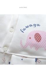 LaraModa Olifantje Meisjes Boxpakje - wit / roze