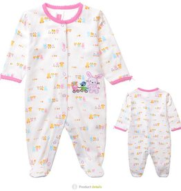 Babykleding Konijntje Boxpakje - wit / roze