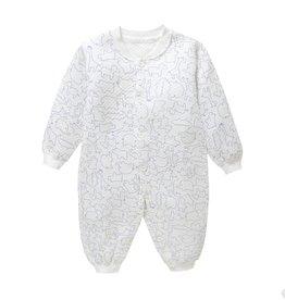 Babykleding Dieren Boxpakje / Romper - wit / blauw