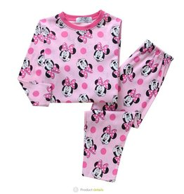 LaraModa Minnie Mouse en stippen Pyjama - roze