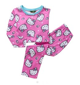 LaraModa Hello Kitty Pyjama - roze / blauw