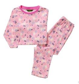 LaraModa Aardbeien en Bloemetjes Pyjama - roze
