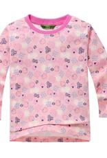 Meisjespyjama's Aardbeien en Bloemetjes Meisjes Pyjama - roze