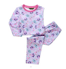 Meisjespyjama's Uiltjes Pyjama - paars