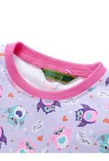 LaraModa Uiltjes Meisjes Pyjama - paars