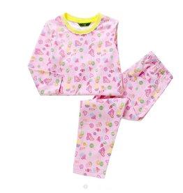 Meisjespyjama's Hartjes en Snoepjes Pyjama - roze