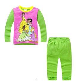 LaraModa Disney Prinsesjes Pyjama - groen / paars