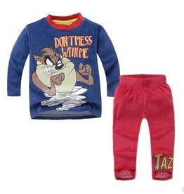 LaraModa Tasmanian Devil Pyjama - fleece - blauw / rood
