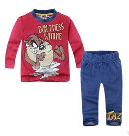 Jongenspyjama's Tasmanian Devil Pyjama - fleece - rood / blauw
