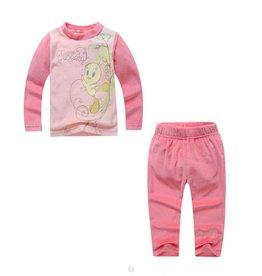 Meisjespyjama's Tweety Pyjama - fleece - lichtroze