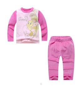 Meisjespyjama's Tweety Pyjama - fleece - roze (fuchsia)